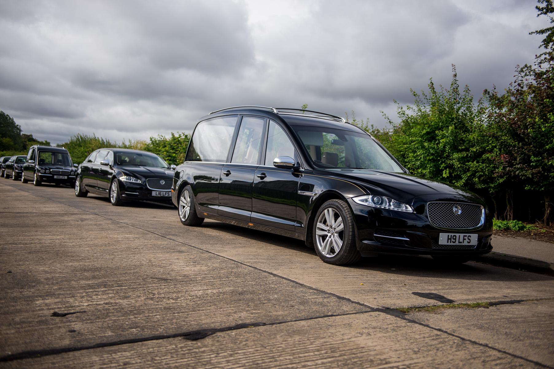 Lamb's Funerals Jaguar hearse