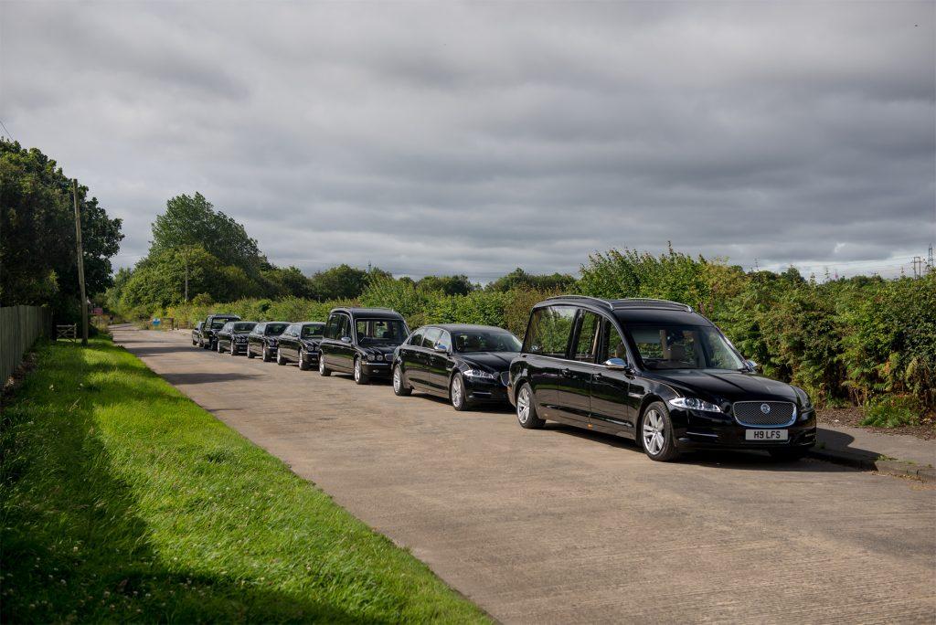 Fleet of black jaguars for hire
