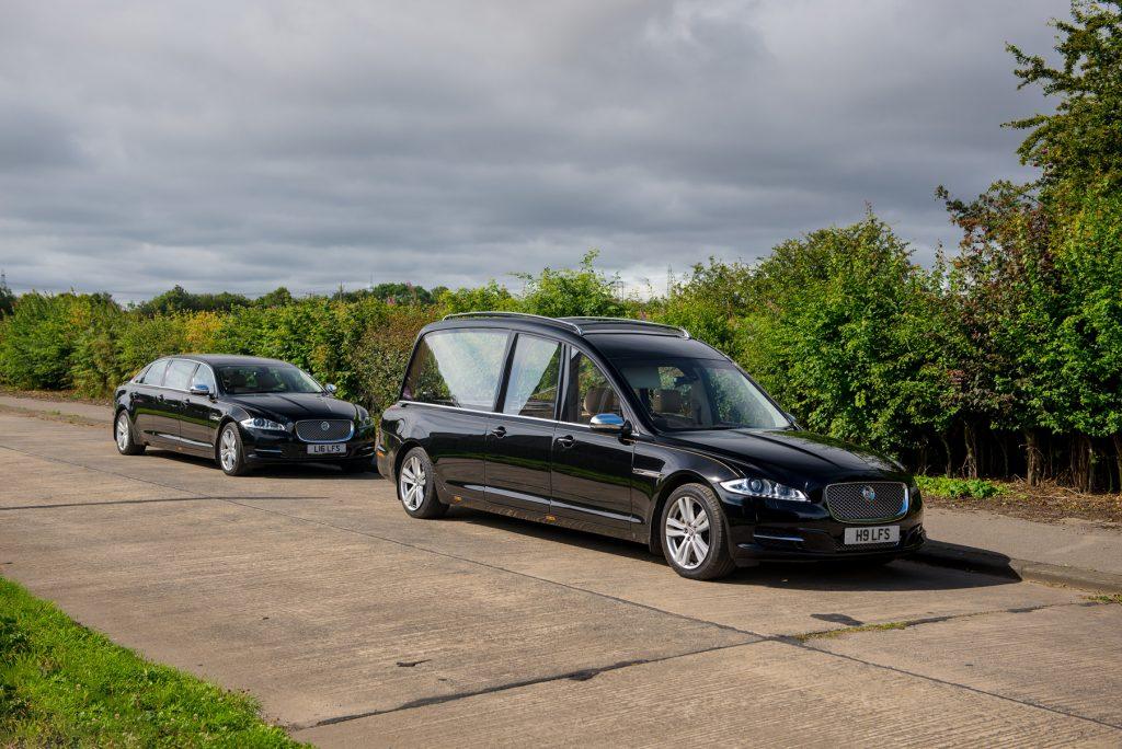 New Jaguar hearse hire