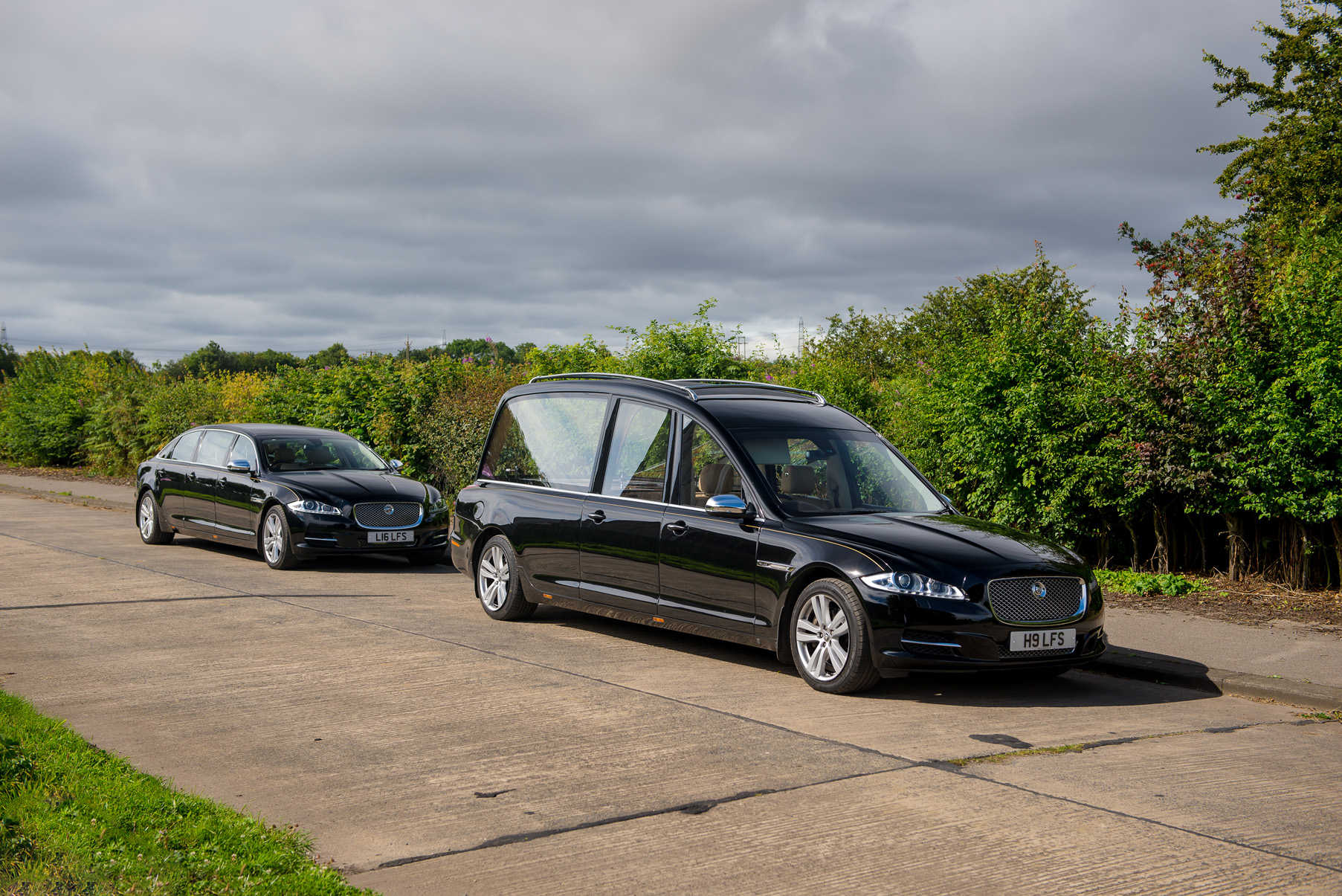 New Jaguar hearse hire