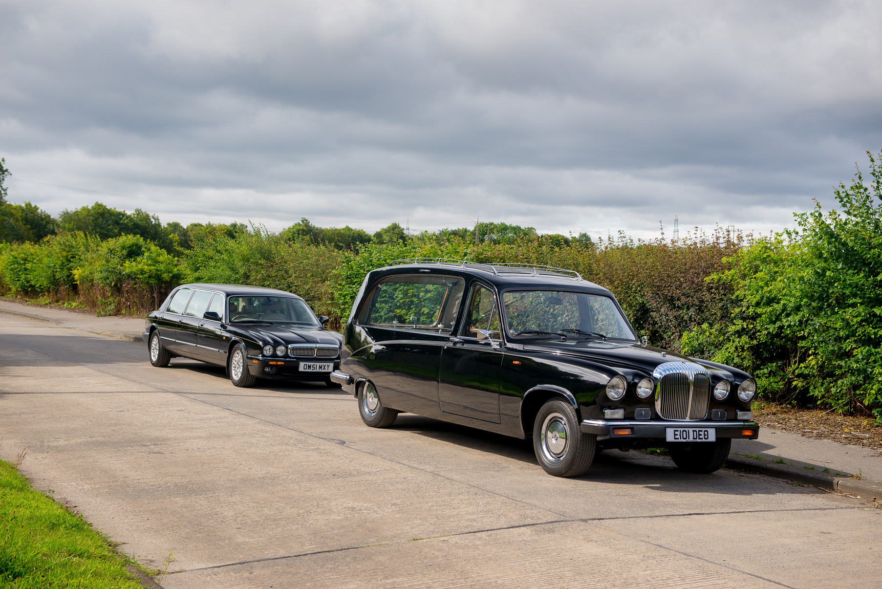 Traditional hearse hire